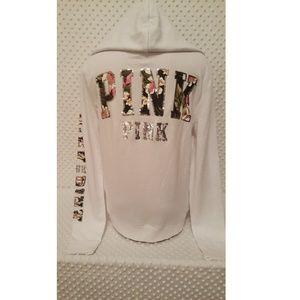 Victoria's Secret PINK Full Zip Up Tropical Hoodie